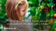 Børn stresser af ved at være i haven - Dyrkhaven.dk gør det nemt at dyrke din have