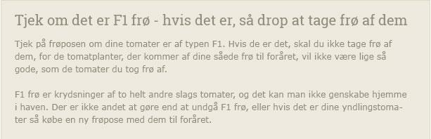 Derfor skal du ikke tage frø af F1 frø - Dyrkhaven.dk gør det nemt at dyrke din have